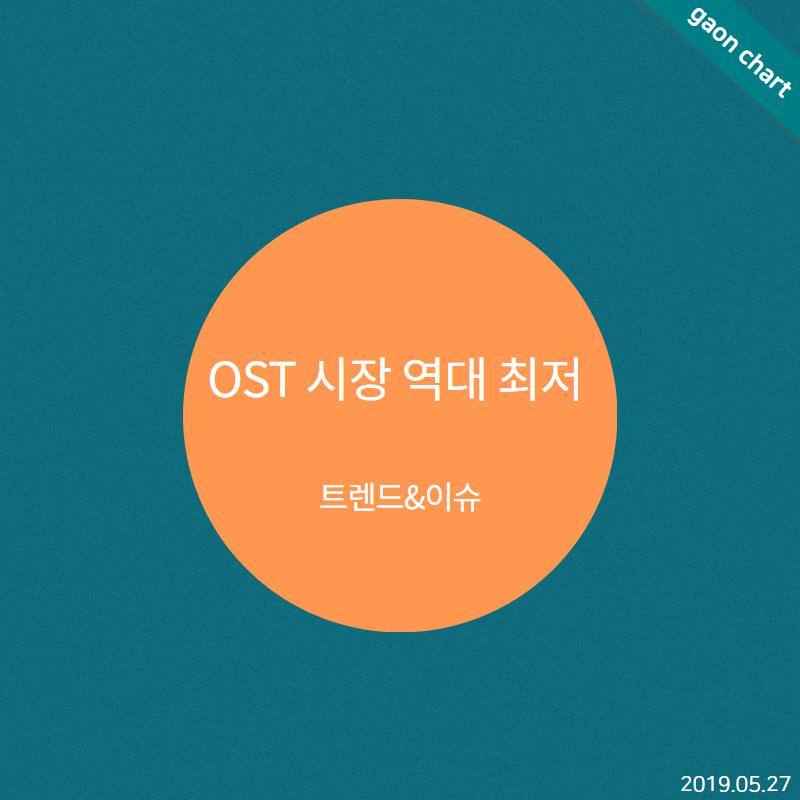 OST 시장 역대 최저 - 트렌드&이슈