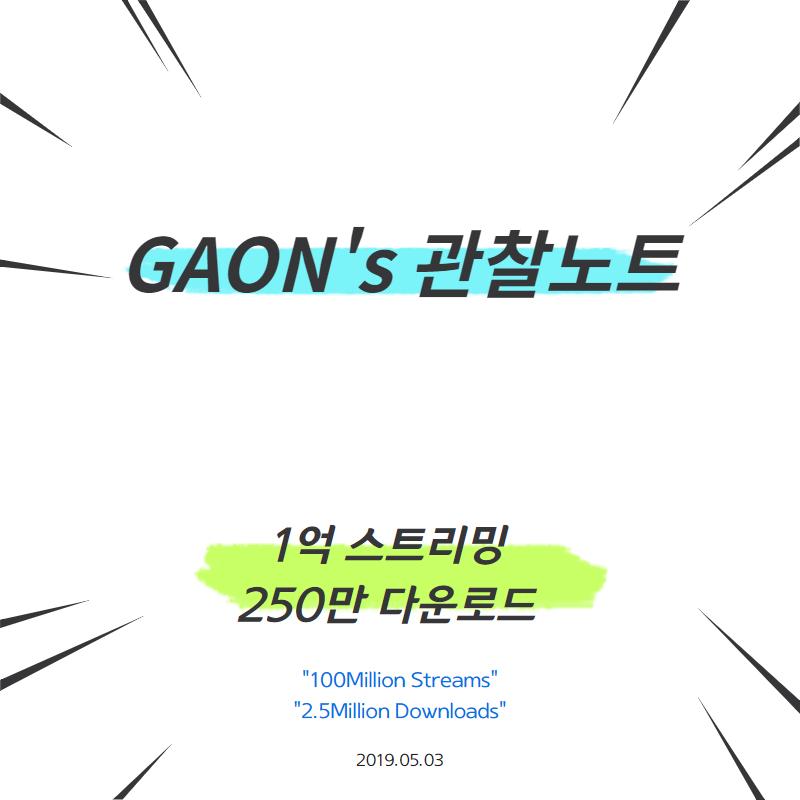 GAON′s 관찰노트