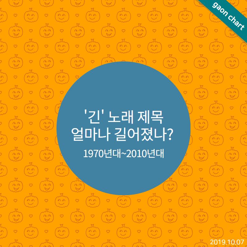 ′긴′ 노래 제목 얼마나 길어졌나? (1970년대~2010년대)