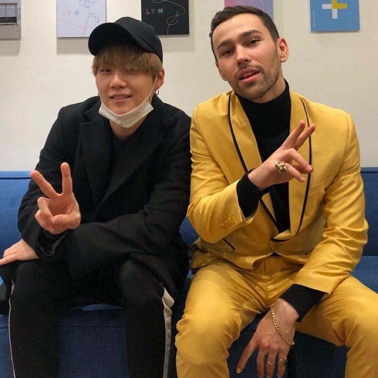 첫 내한 공연을 매진시킨 맥스, 방탄소년단 슈가와 인증샷 공개!