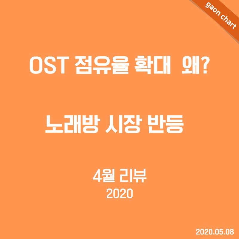 OST 점유율 확대 왜? 노래방 시장 반등 - 4월 리뷰(2020)