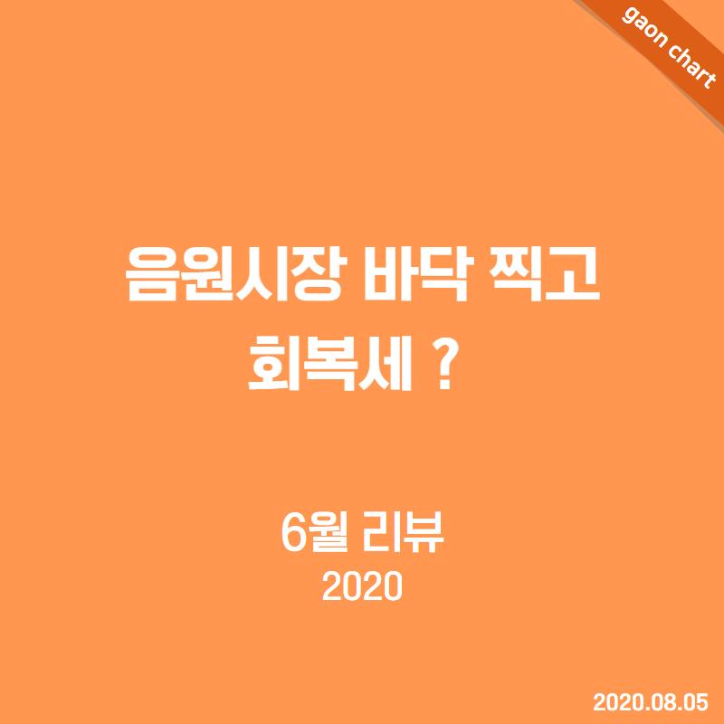 음원시장 바닥 찍고 회복세? - 6월 리뷰(2020)