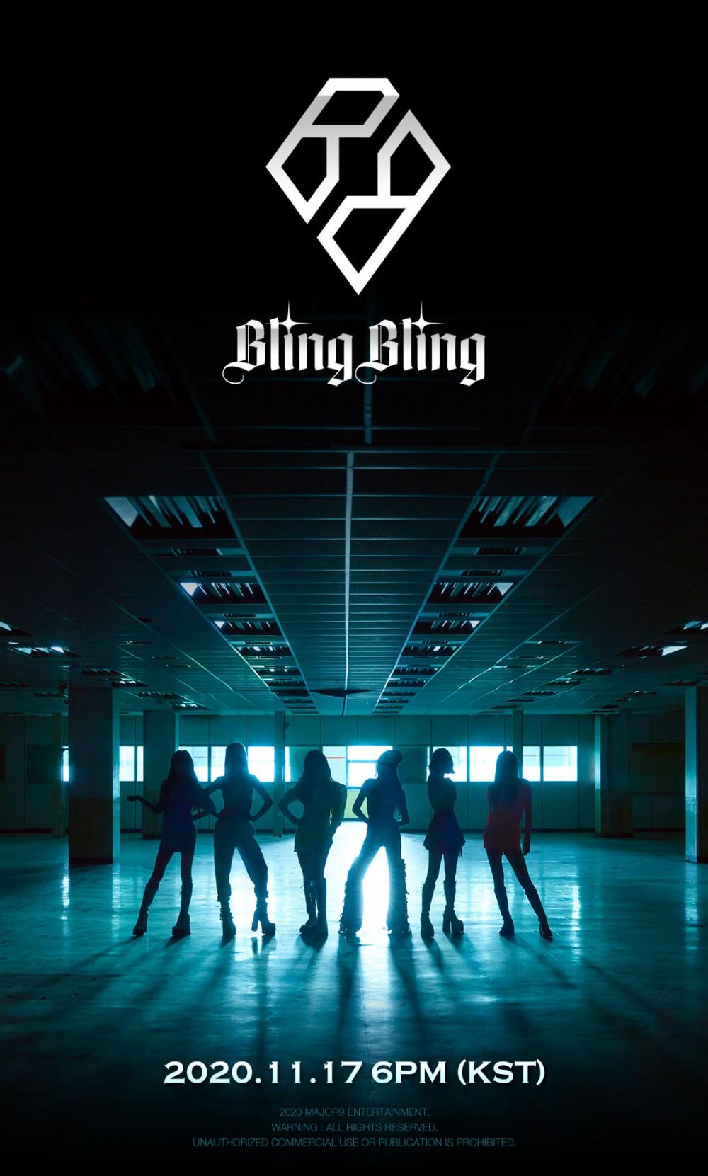 '메이저나인 1호 걸그룹' 블링블링, 11월 17일 정식 데뷔 확정
