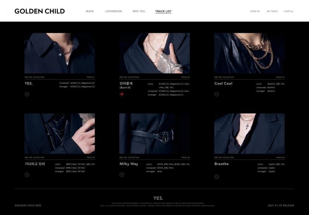 골든차일드, 미니 5집 'YES.' 트랙리스트 공개… 타이틀곡 '안아줄게(Burn It...