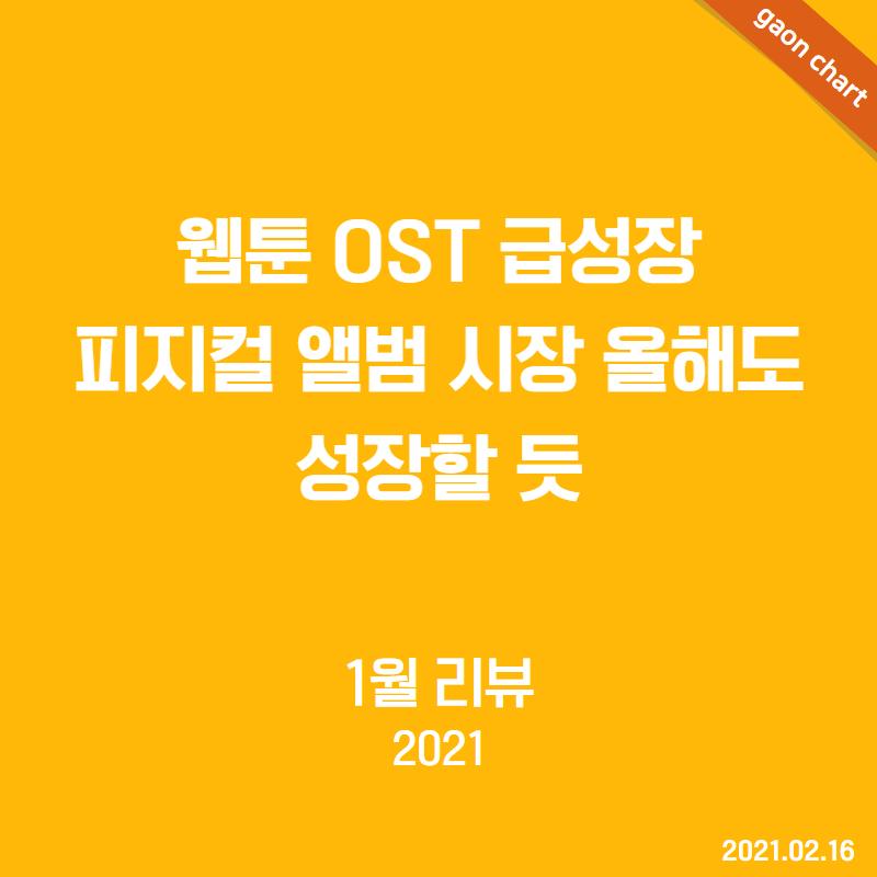 웹툰 OST 급성장 피지컬 앨범 시장 올해도 성장할 듯 - 1월 리뷰(2021)