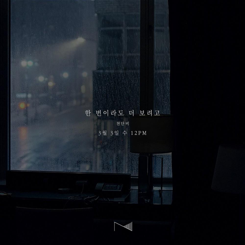 """천단비, 신곡 '한 번이라도 더 보려고' 오늘 3일 발매 """"절절한 감성"""""""