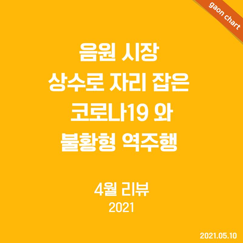 음원 시장 상수로 자리 잡은 코로나19 와 불황형 역주행 - 4월 리뷰(2021)