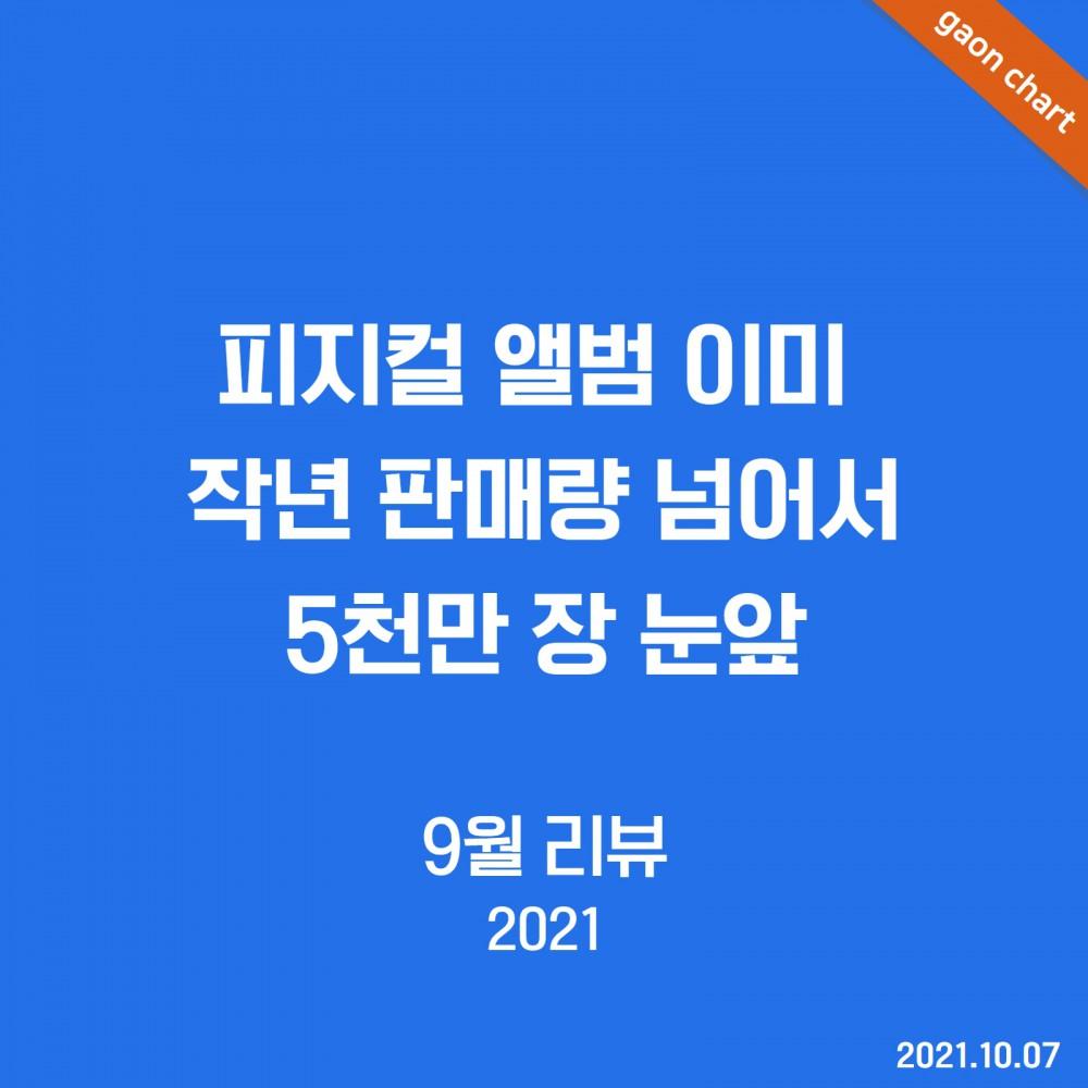 피지컬 앨범 이미 작년 판매량 넘어서 5천만 장 눈앞 - 9월 리뷰 (2021)